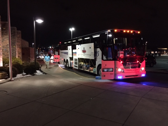 Buses ready to roll to March